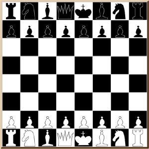 Screenshot of a chess playing program written in Javascript